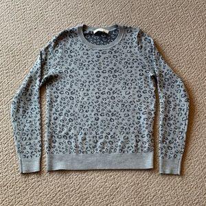 LOFT Grey Leopard Sweater